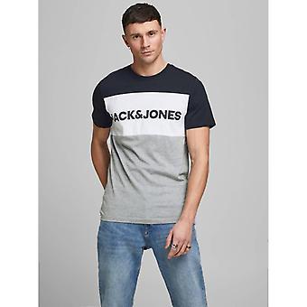 Jack &Jones Logo Color Bloqueo camiseta - Navy Blazer