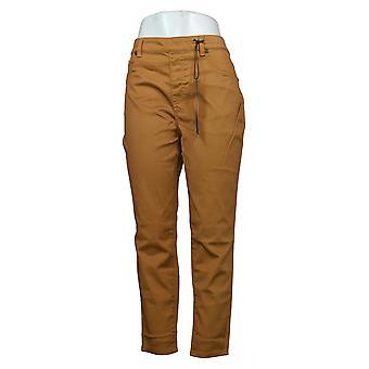DG2 af Diane Gilman Kvinders Petite Jeans Denim 5-Pocket Jegging Gold 718720