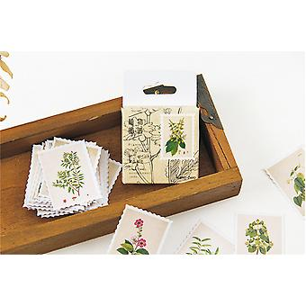 45 Piece vintage plant sticker set