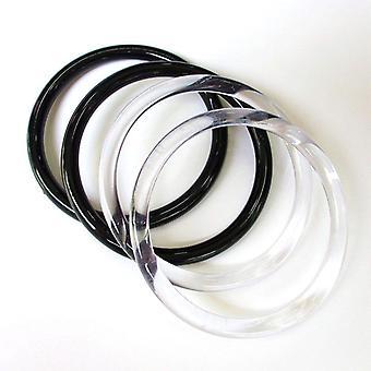 Transparent Round Plastic Bag Handles Replacement Handbag Purse