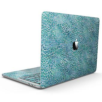 """Aqua Watercolor Leopard Pattern - 13"""" Macbook Pro Without Touch Bar"""