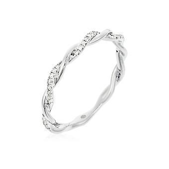 Ring Alliance 'Twist' Oro Blanco y Diamantes