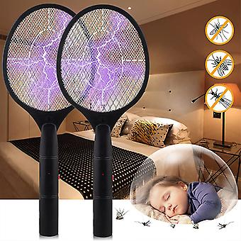 Household Electric Mosquito Swatter Three-layer Mesh Fly Swatter