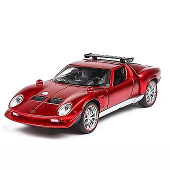 Diecast Pull Back Car Toys Licht geluid legering Simulatie Racing Car Model