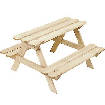 Picknickbord för barn 89,5 x 81,5 x 51 cm – Tall