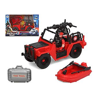 Playset Firefighters Rescue Team Red
