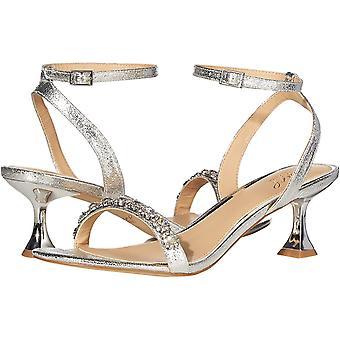 Jewel Badgley Mischka Women's Fantasia Heeled Sandal, Silver, 6