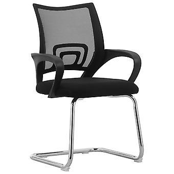 vidaXL Cantilever كرسي مكتب الرئيس الأسود شبكة النسيج