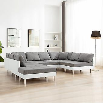vidaXL Modulares Sofa Kunstleder Weiß