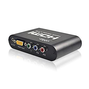 VGA  YPbPr To HDMI HD 1080p Converter Audio And Video Synchronization Support DDC Function