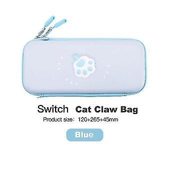 لطيف القط حقيبة لنينتندو التبديل حقيبة التخزين الغطاء حالة لنينتندو التبديل حقيبة (الأزرق)