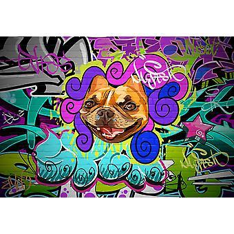 Tapeta Mural Grunge Hip Hop Graffiti Wall