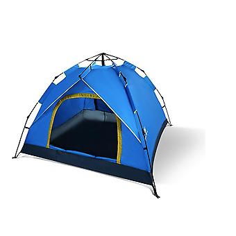 Automatic Tent Outdoor 3 Person Tent Field Camping Tent Double-door Thickened Tent Rainproof And Insect-proof Tent Free To Build Quick-opening Tent Hl
