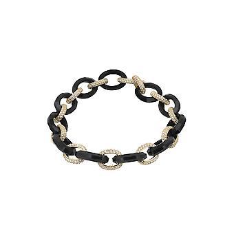 Cleeves armbånd svart gull