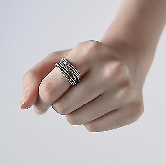 Vintage Mehrschichtige große Ringe