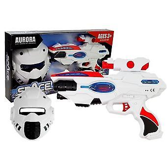 Hračky Laser gun 30cm - s maskou - světlo a zvuk