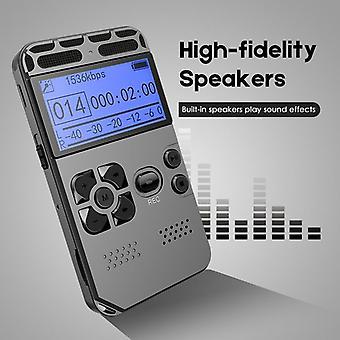4GB HD Studio Digitální audio zvukový hlasový záznamník Dictaphone WAV MP3 Přehrávač Nahrávání