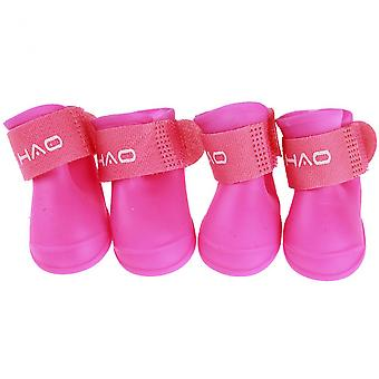 Pet Rain Boots Waterproof Anti-slip Paw Protection Rain Snow Shoes For Small And