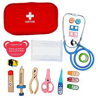 17pcs医療キット医師看護師歯科医は役割を果たしておもちゃセットキッズゲームギフト