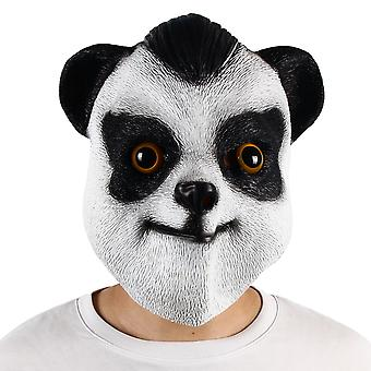 Halloween Party Latex Mask Stage Performance Props Panda Headdress Cos Dress Up
