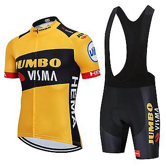 Nouveau patron été Hommes Costume de cyclisme avec cuissard Respirant Vélo Sport Suit MTB Kit Sportswear
