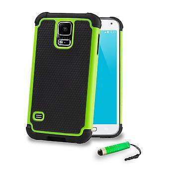 Szok dowód Case + rysik do Samsung Galaxy S5 (SM-G900) - zielony