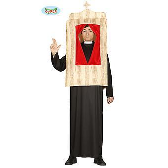 Beichtstuhl Kostüm Priester im Beichtstuhl Herren Kostüm one size