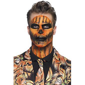 Flüssiglatex Schmink Set Kürbis Monster orange mit Spachtel Makeup Schminke Latex