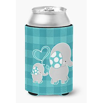 Carolines Treasures  BB6834CC Mommy and Baby Elephant Can or Bottle Hugger