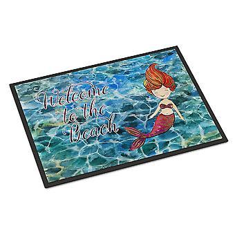Havfrue vandet velkommen indendørs eller udendørs Mat 24 x 36