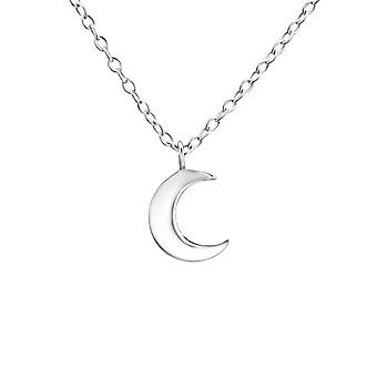 Crescent Moon - 925 Sterling Silver Plain Necklaces - W22017X