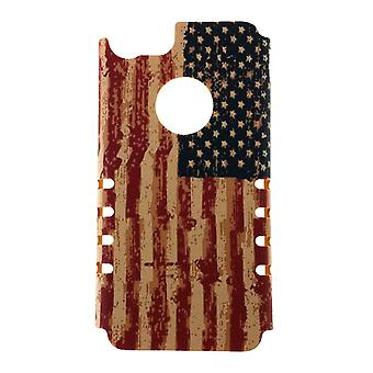 Bandeira do EUA angustiado
