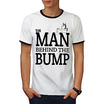 Mann hinter Männer weiß / BlackRinger-t-Shirt | Wellcoda