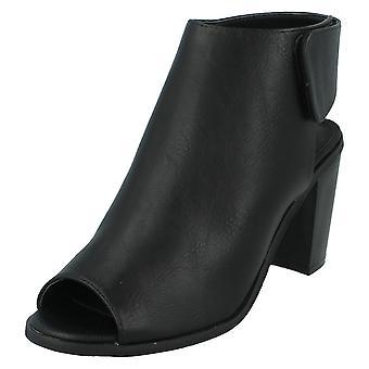 Damen-Spot auf Peep Toe Schuhe Stiefel F10504