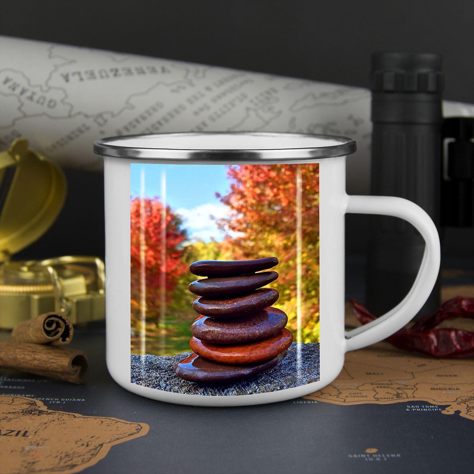 Zen-Ruhe Wald neue WhiteTea Kaffee Emaille Mug10 oz | Wellcoda