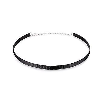 Ras du Cou necklace in Black Fabric 6634