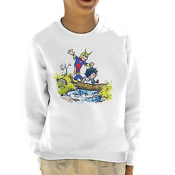 Plus Ultra Pals Calvin en Hobbes mijn held Academia Kid's Sweatshirt