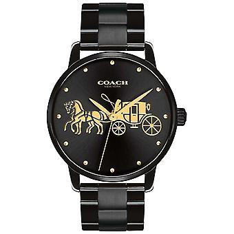 Coach Womens Grand Black Case & Bracelet 14502925 Watch