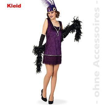 20 Charleston Lady drakt kjole kostyme damer frynse kjole