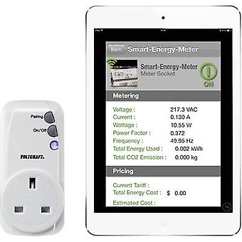 VOLTCRAFT SEM-3600BT-UK energia consumo medidor Bluetooth GUI, interface, conectividade com a Internet