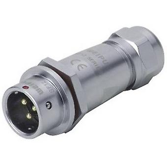 Weipu SF1211/P6 II Bullet connector Plug, straight Series (connectors): SF12 Total number of pins: 6 1 pc(s)