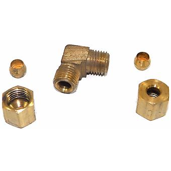 "Big A Service Line 3-165300 Brass Pipe, 90° Street Elbow Fitting 3/16"" x 3/16"""