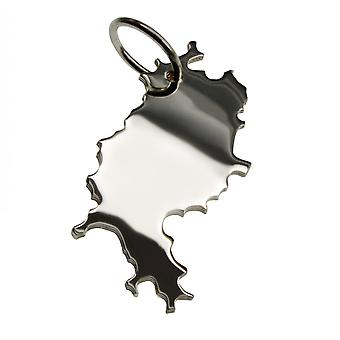Trailer map HESSE pendant in solid 925 Silver