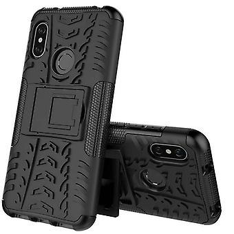 Voor Xiaomi MI A2 Lite / Redmi 6 Pro hybrid case 2 stuk SWL buiten zwarte tas geval kaft bescherming