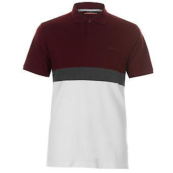 Pierre Cardin Mens Polo camisa clássico cabe Tee superior manga curta algodão botão