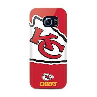 Mizco Sports NFL Oversized Snapback TPU Case for Samsung Galaxy S6 Edge (Kansas City Chiefs)