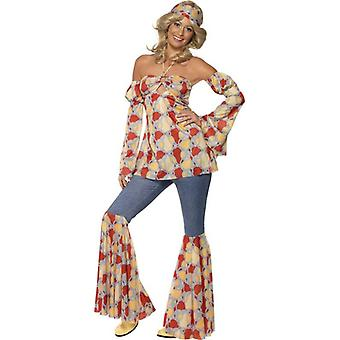 Vintage Hippy 1970's Costume, UK Dress 12-14