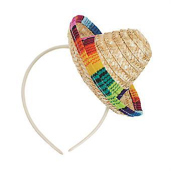 Sombrero Straw Mini On Headband