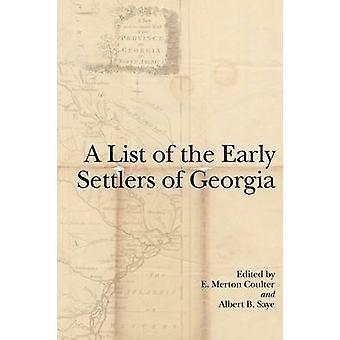 Une liste des premiers colons de la Géorgie par E. Merton Coulter - Albert