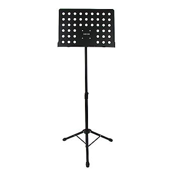 WorldOfMusic Orchestral Fully Adjustable Professional Music Stand Sheet Holder - Tripod Base High Grade Metal - Suitable for Home Studio Gig Performance - Brass Woodwind Percussion Strings Instruments